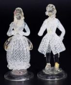 Figuren Tanzpaar, unsigniert. TOFFOLO, Murano zugeschrieben,