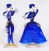 """Tänzerpaar """"Badioli"""", Murano/Italien, 20. Jahrhundert."""