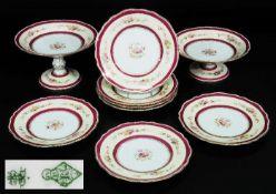 COPELAND Dessertteller, Tafelschalen. ENGLAND, 19. JahrhundertCOPELAND Dessertteller,COPELAND