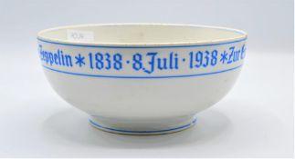 """Porzellan Schale Graf Zeppelin 1938 Heinrich & Co. Selb """" Zur Erinnerung an den 100 Geburtstag des"""