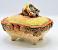 Dose mit Deckel Keramik von Dümler & Breiden Nr. 435 70er Jahre<