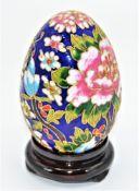 Cloisonne Ei auf kleinen Holzständer ca. 12cm