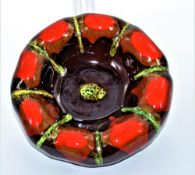 Aschenbecher Keramik 70er Jahre Lava Optik Ø 22cm