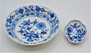 Meissen Porzellan 2 Schälchen Ø14,5cm und 8x6cm