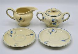 Konvolut Rosenthal Porzellan Winifred 4-teilig Milchkännchen Zuckerdose 2 Unterteller