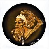 """Wandteller ,,Aborigine"""" von Little Sydney Australien, handgemalt, Øca. 30cm"""