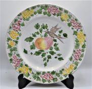 """Wandteller Prunkteller Keramik, hinten beschriftet ,,Bargello Gubbio Italy"""" Ø36,5cm"""