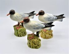 Konvolut 3 Keramik Möwen La Vecia Botega Marostica ca. 18,5cm (kleine Reparaturstellen vorhanden