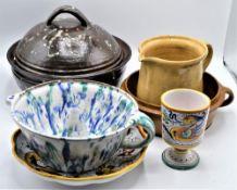 Konvolut Keramik 6-teilig (Bestossungen können vorhanden sein)
