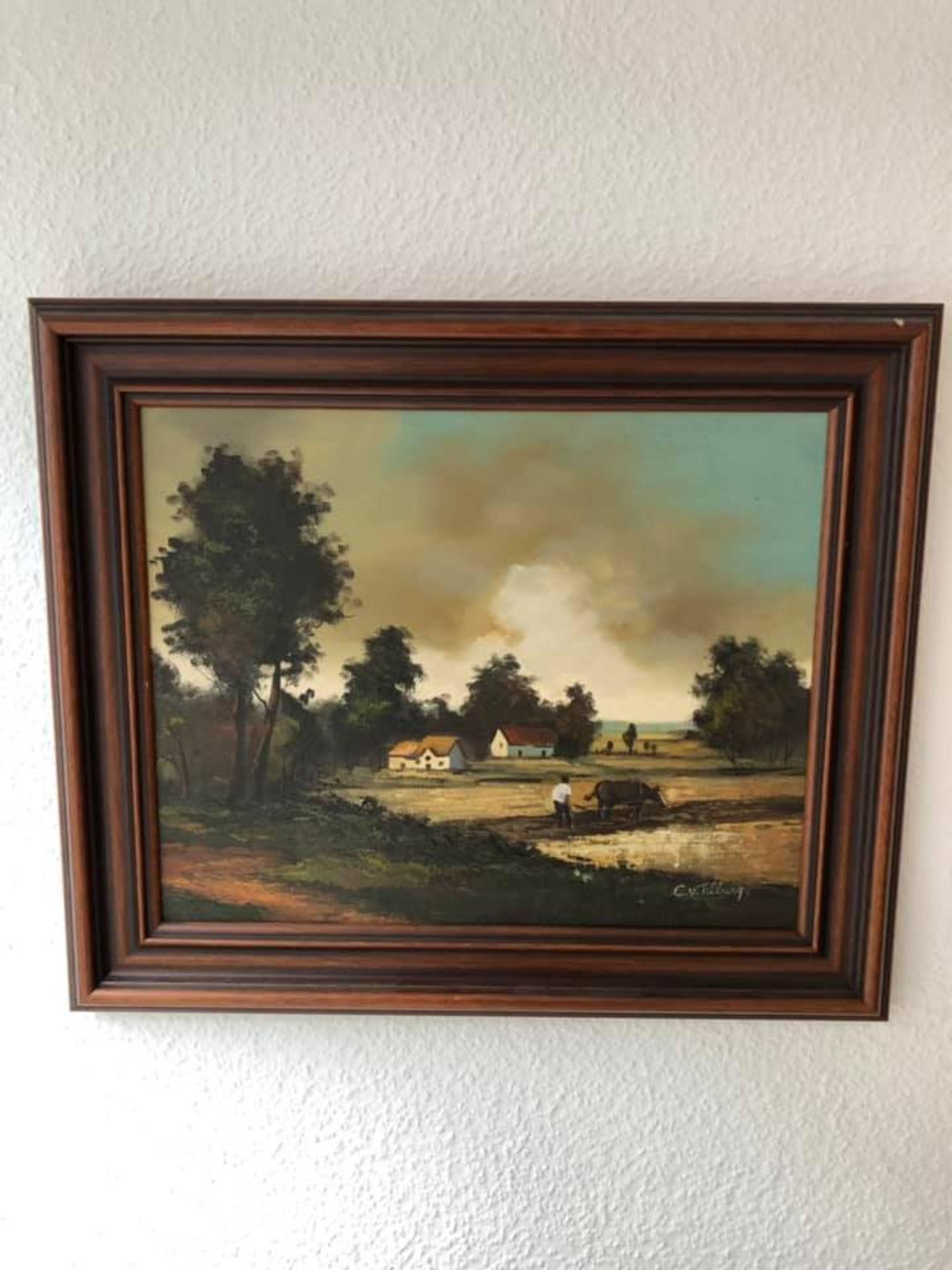 Los 3 - Ölgemälde Landschaft