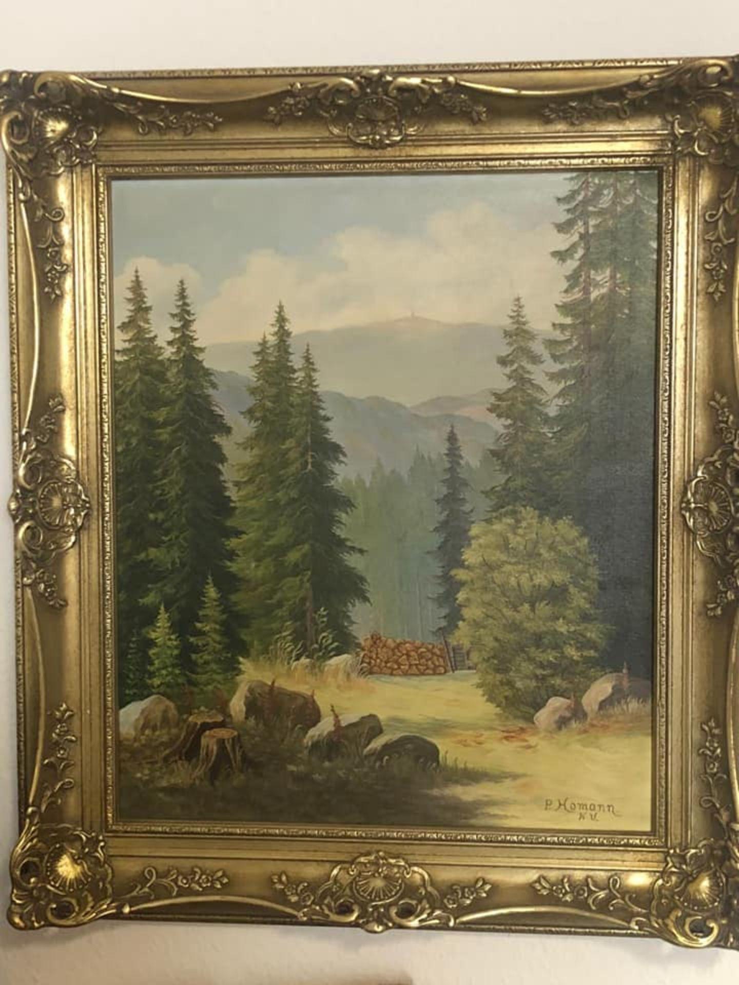 Los 8 - Ölgemälde Landschaft