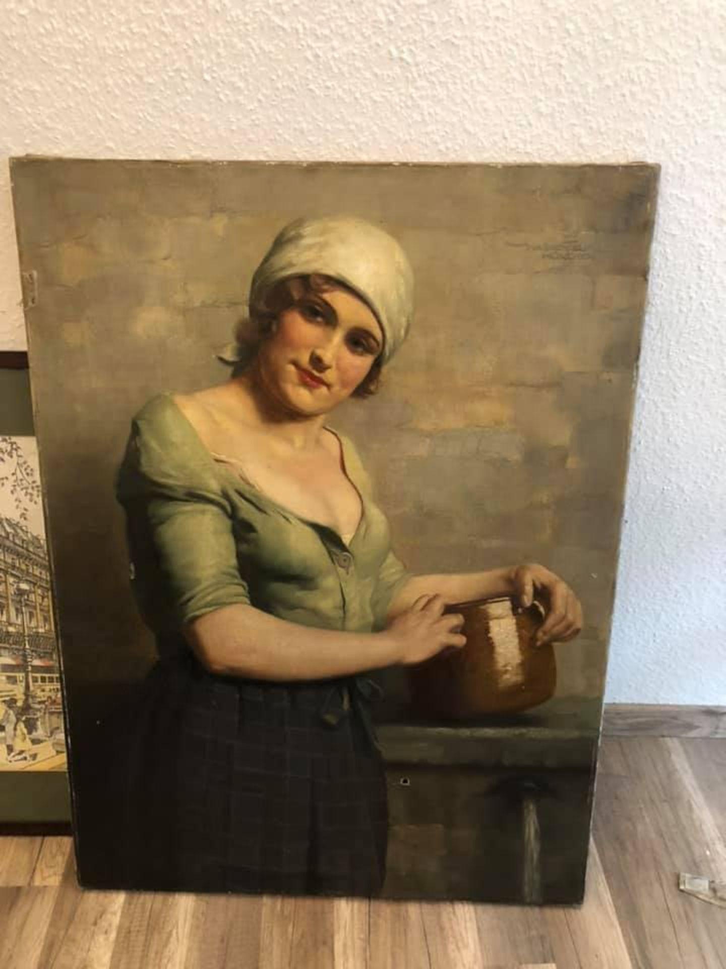 Los 5 - Ölgemälde Frauen Porträt