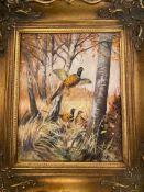 Ölgemälde Vögel im WaldKünstler: A.Block