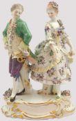 """Figurengruppe Porz. MEISSEN """"Tanzpaar""""Entw. August RINGLER (wohl 1837 - ca. 1918) um 1900 bem."""