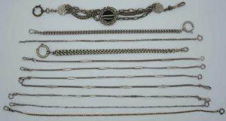 1 Konv. Taschenuhren/Uhrketten