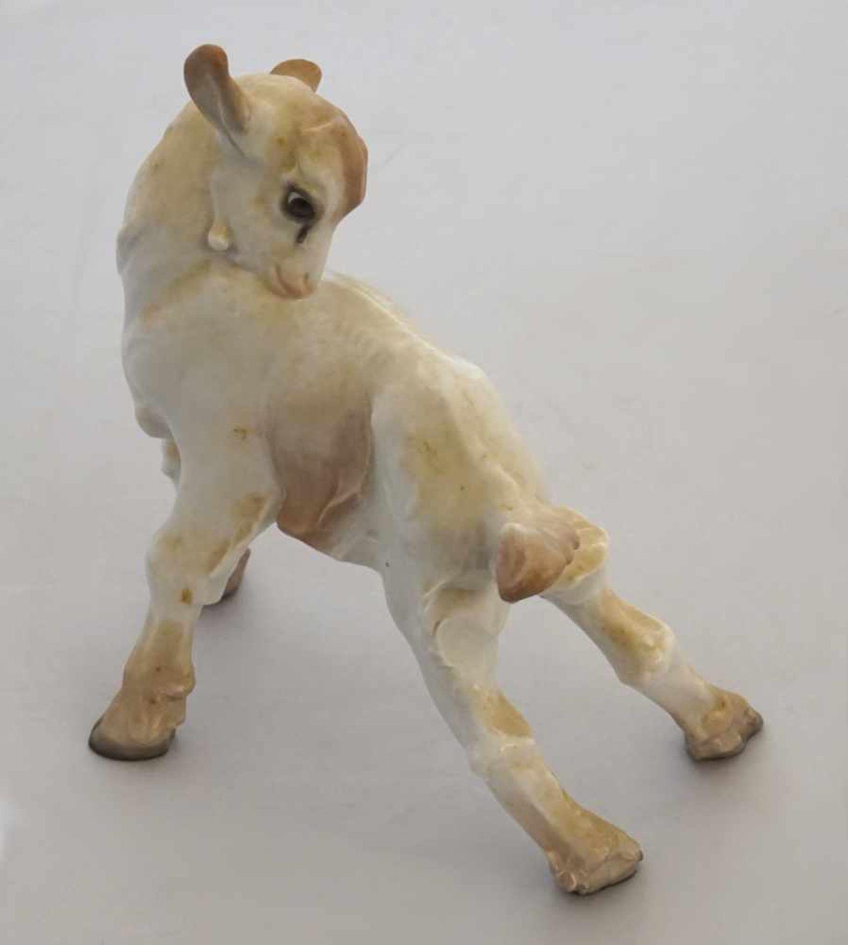 """1 Figur Porz. ROSENTHAL """"Zicklein""""Entw.: Jao DA SILVA (wohl 1880-1960) wohl 1920er Jahre, handbem. H"""