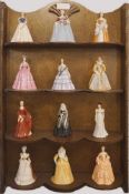 "1 Konv. PorzellanfigurenFRANKLIN PORCELAIN ""Belles of the Masquarade"" The Costume Museum of Bath"