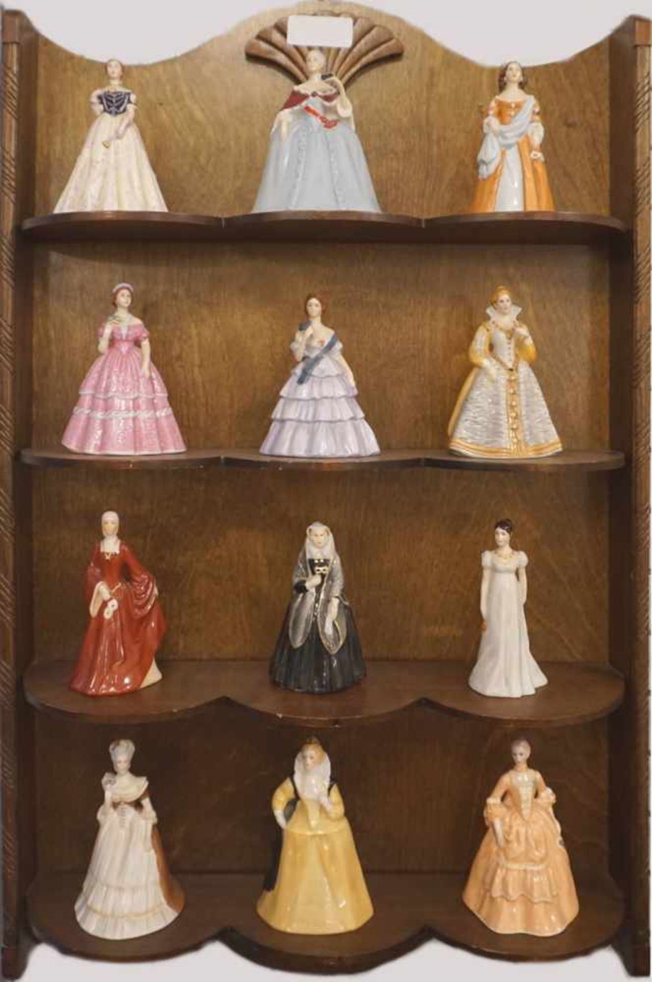 "1 Konv. PorzellanfigurenFRANKLIN PORCELAIN ""Belles of the Masquarade"" The Costume Museum of Bath"