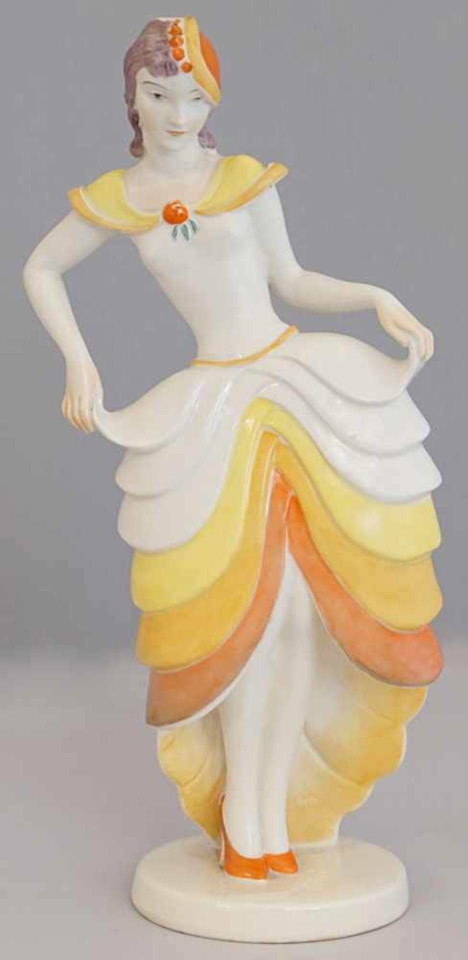 """Figur Porzellan ROSENTHAL """"Tänzerin"""" wohl 1920/30er JahreEntwurf Claire WEISS (wohl 1906-1997)"""