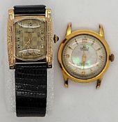 1 Armbanduhr DREFFA Gehäuse GG 14ct. um 19201 Armbanduhrgehäuse VALRUZ verg. Gsp.