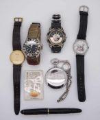 1 Konv. Armbanduhren/Fülleru.a. Gsp.