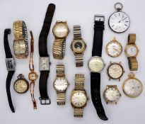 1 Konv. Armbanduhren/Uhrketten meist verg.z.T. besch.