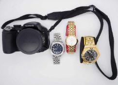 1 Konv. Armbanduhren DUGENA SEIKO FESTINA (Sonderedition)mit Papieren und Originalschatullen sowie 1