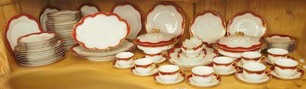 """1 Speise-/Kaffeeservice Porzellan ROSENTHAL für ca. 10 Personen um 1900/10 Dekor """"Versaille"""",</b"""