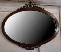 1 Spiegel wohl um 1900, Holz intarsiert
