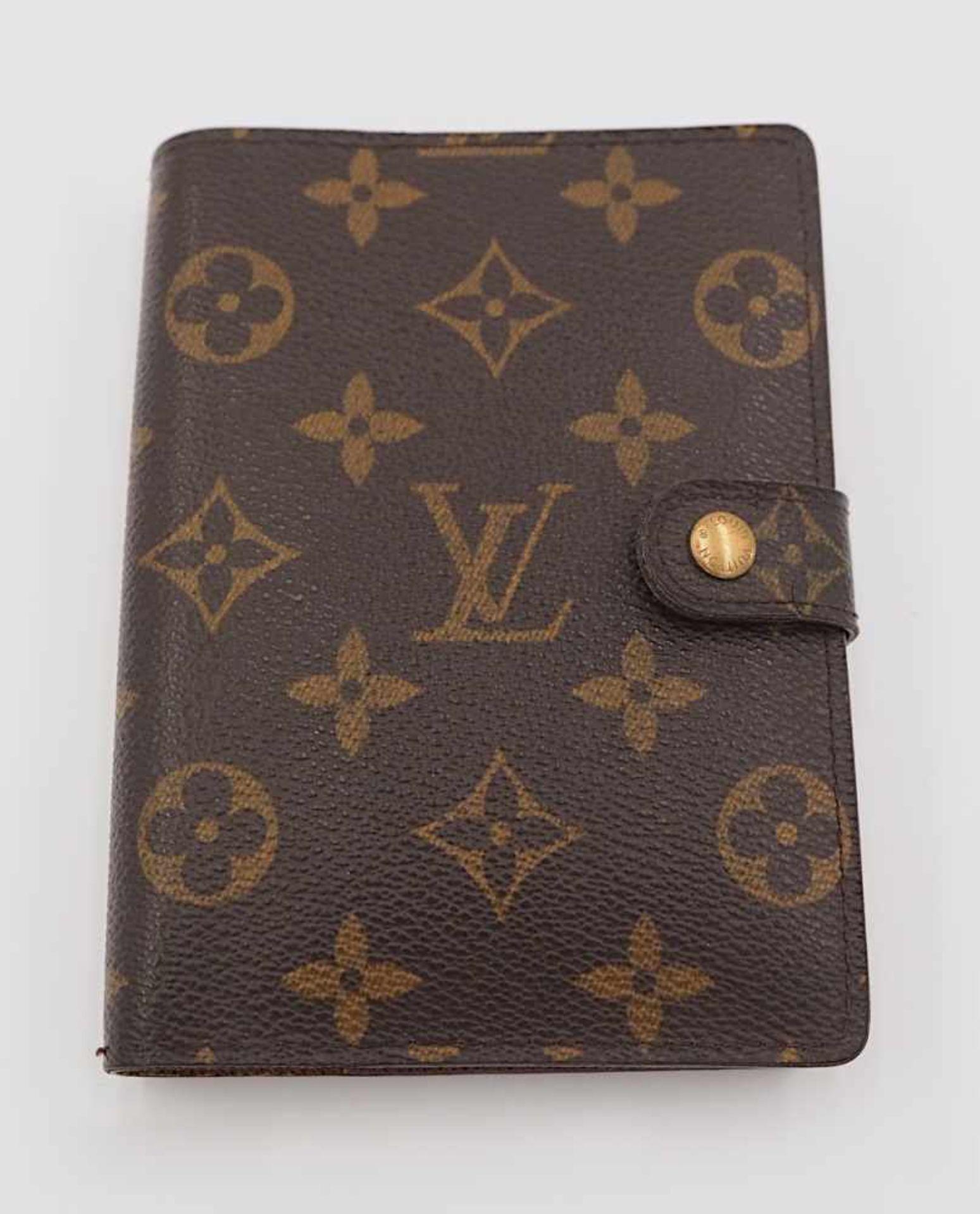1 Agenda 1 Kugelschreiber Louis Vuitton m. Rechnungskopie monogr. Gsp.