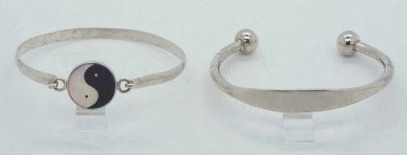 2 Armspangen Silber