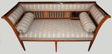 1 Sofa/3- Sitzer Biedermeier wohl Süddeutschland um 1825 Holz Kirsche