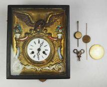 1 Rahmenuhr wohl um 1880