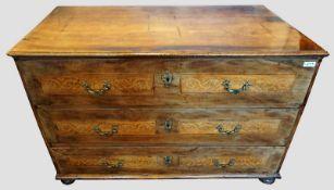 1 Barockkommode wohl Wien um 1740, lt. EL Holz Palisander