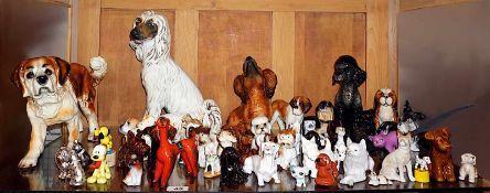 1 große Sammlung Porzellanfiguren versch. Marken: