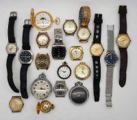 1 Konv. Armband-/Taschenuhren z.T. Metall vergoldet