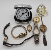 1 Konvolut Armbanduhren u.a. z.T. vergoldet Gsp.