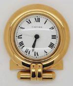 1 Wecker CARTIER, vergoldet, mit Papierengekauft 1992, NP 650 DM