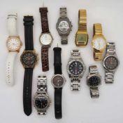 1 Konv. Armbanduhren nztl.: FESTINA, ESPRIT u.a. Gsp.