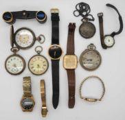 1 Konv. Armband-/Taschenuhren u.a., z.T. Silber, z.T. um 1900, min. GG