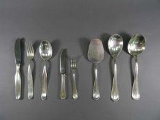 Besteckteile, 800 Silber, Wilkensmeist mit Monogramm 'M', wie: vier Menümesser, drei -gabeln und
