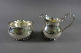 Sahneset, 925 SilberJakob Grimminger, Schwäbisch Gmünd, Kordelrand, ca. 178 g, Gebrauchsspuren