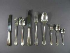 Besteck, 800 Silber, Franz BahnerDüsseldorf, verschiedene Monogramme 'H', wie: vier