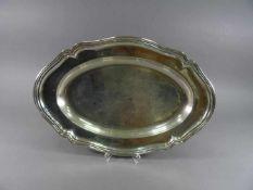 Platte, 835 Silber, WilkensBarockstil, oval, L = 39,5 cm, ca. 639 g, Druckstellen