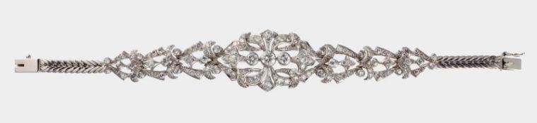 Armband, Platin und 750 WG