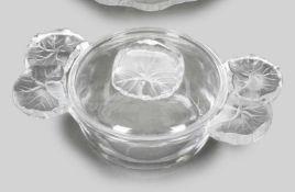 Deckelschale, Lalique, 'Honfleur-Geranium'