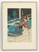 Farbholzschnitt, Japan, sig., um 1900