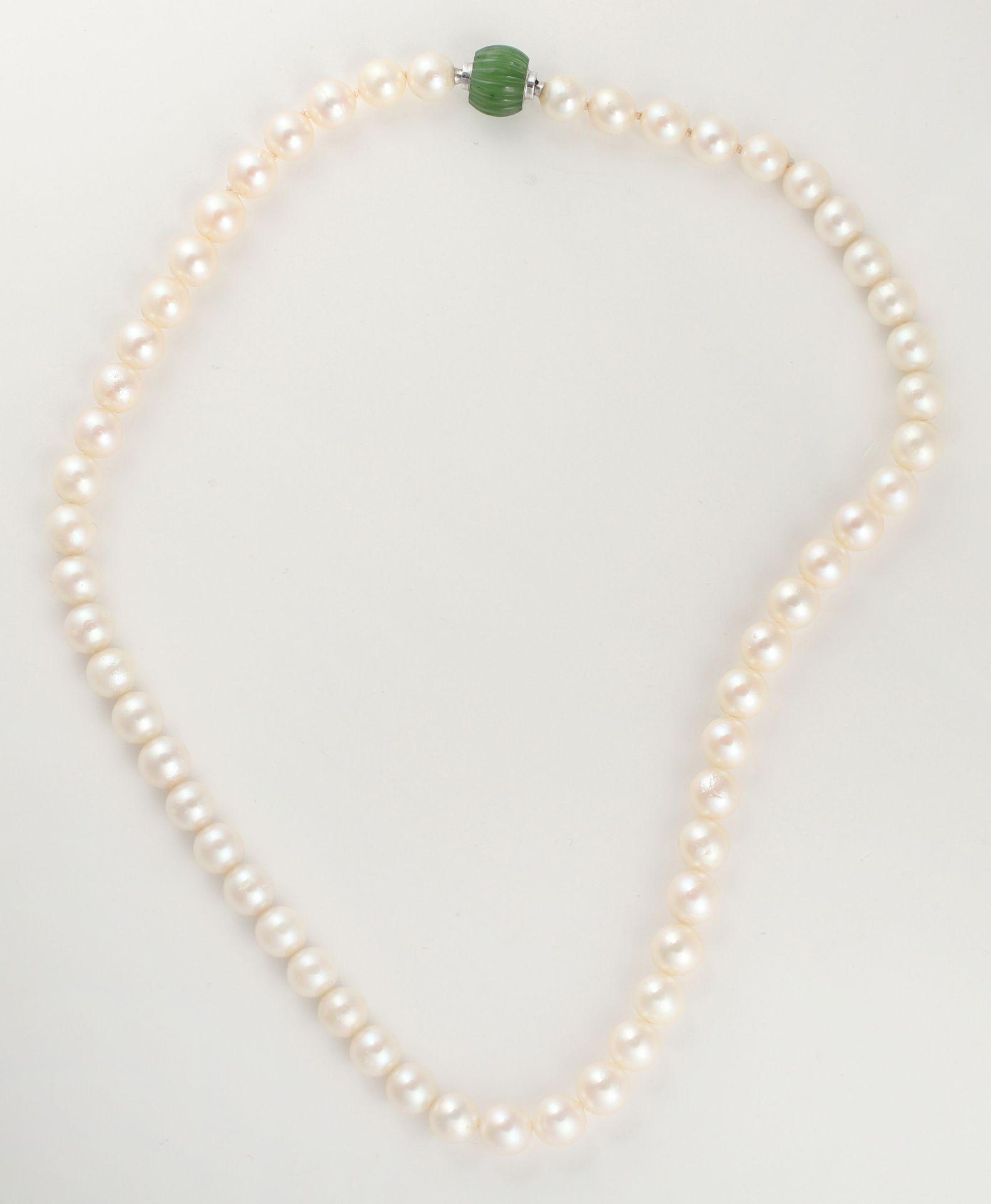 Zuchtperlcollier, aus 56 Perlen