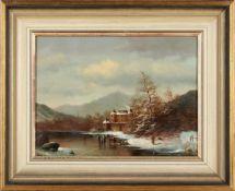 G. Lechner, r.u.sig.'Eisvergnügen', Öl/Lwd., aufgezogen, 30 x 40 cm (Fi)