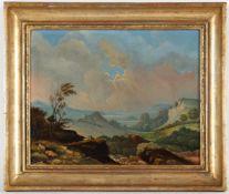 Unbekannter Künstler'Weitläufige Landschaft', Öl/Lwd., 32 x 40,5 cm, doubliert (Fi)